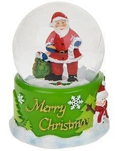 Xmas Snowglobe - Santa with presents